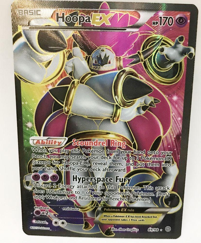 Hoopa ex 8998 xy ancient origins pokemon card holo full