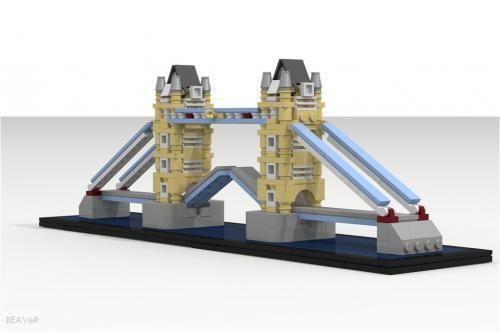 LEGO Set MOC-1070 Mini Tower Bridge - building instructions and ...