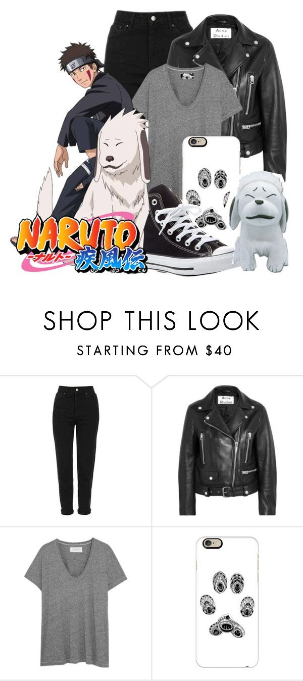 """""""Kiba Inizuka    Naruto Shippuden"""" by stormtrooper117 ❤ liked on Polyvore featuring Topshop, Acne Studios, The Great, Casetify and Converse"""