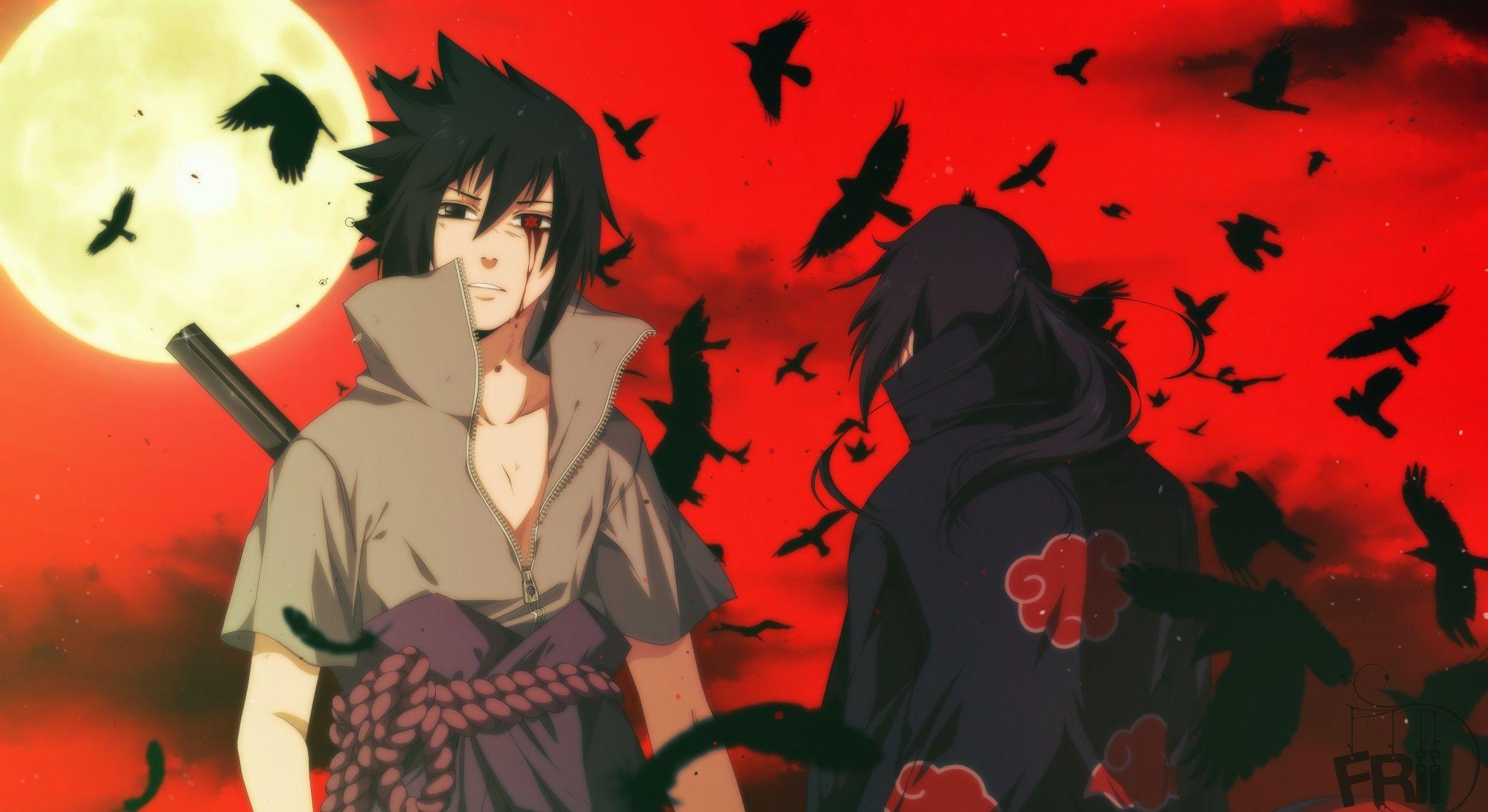 Anime Naruto Sasuke Uchiha Itachi Uchiha Hd Wallpaper Background Image Wallpaper Cart In 2020 Itachi Uchiha Uchiha Anime Naruto