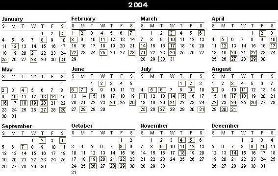June 2004 Calendar 14 567x360 Calendar Monthly Calendar Sheet