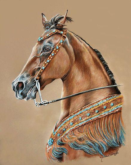 Native Spirit By Mariadangeloart Color Pencil Art Horse Art Equine Art