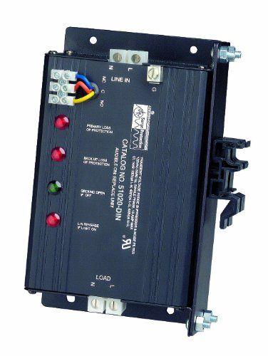 Leviton 51020din 120 Volt 20 Amp 2 Pole 3 Wire Inline Protector Surge Protective Device Wiredin Module Dinrail Mou Gadget World Surge Protectors Latest Gadgets