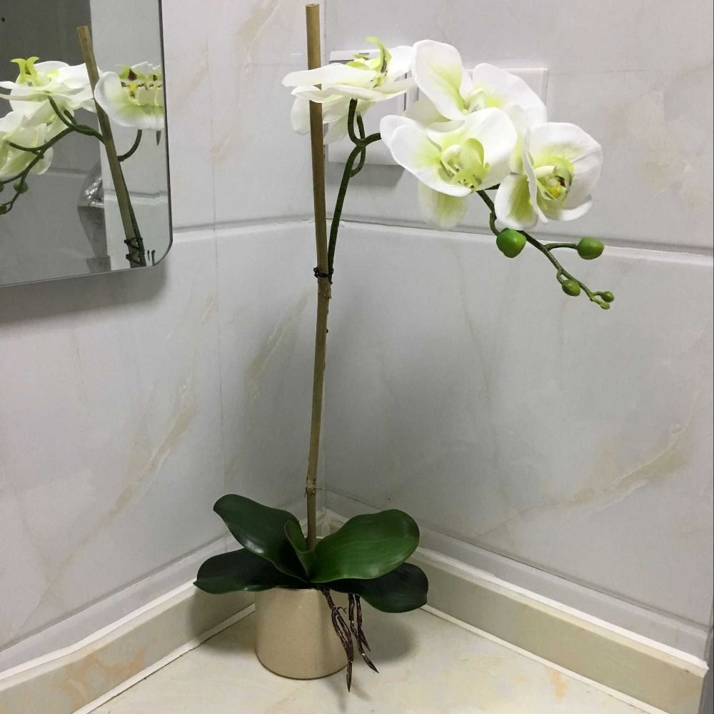 Cheap Orchid Flower Arrangements Buy Quality Real Touch Directly From China Artificial Orchi Orchid Flower Arrangements Orchid Arrangements Artificial Orchids