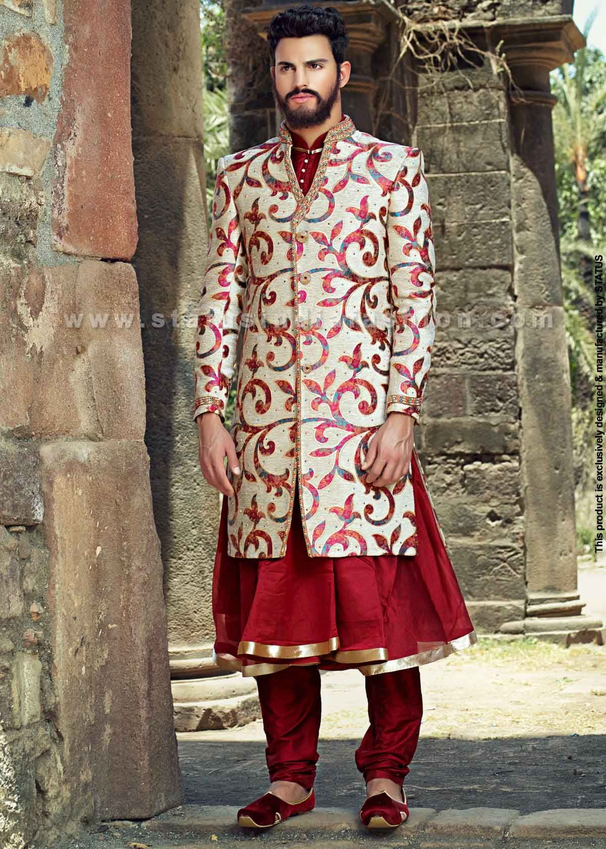 sherwani, indian wedding wear, groom sherwani, best sherwani | Art ...