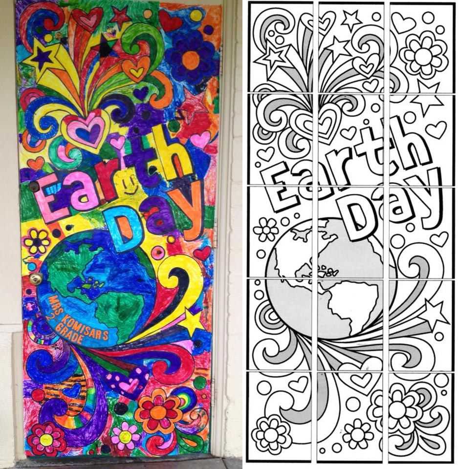 picture about Printable Mural identified as Environment Working day Doodle Mural APFK Globe Working day World working day initiatives