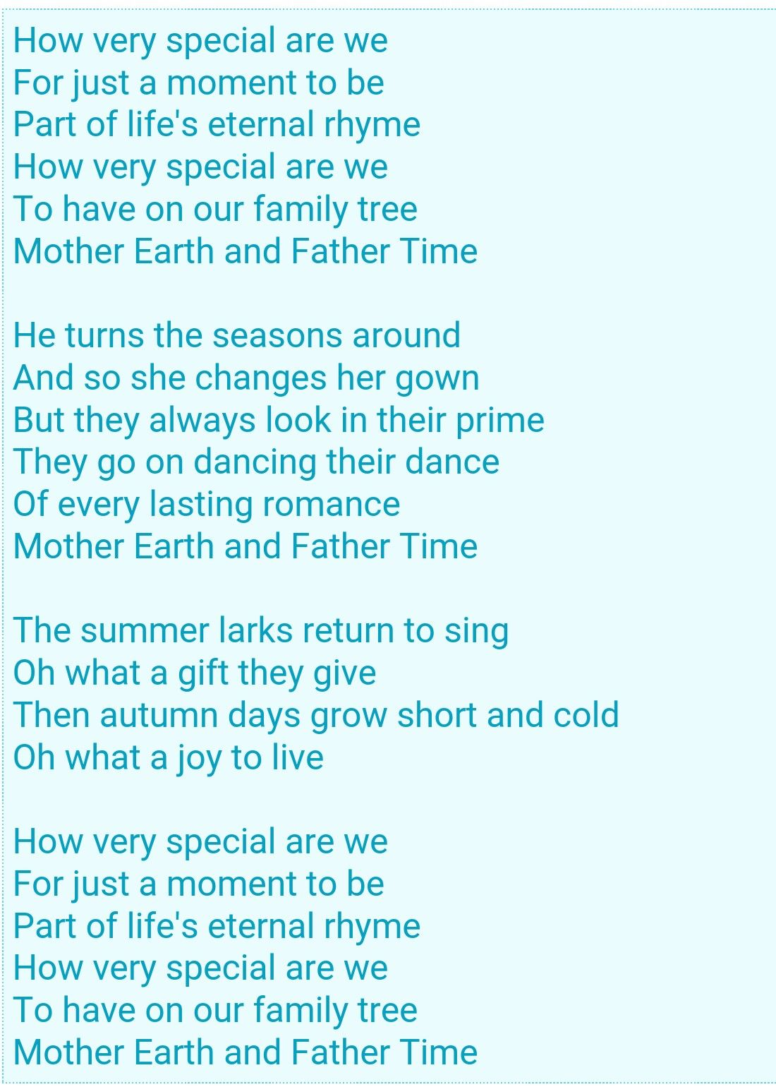 Mother Earth And Father Time Charlotte S Web