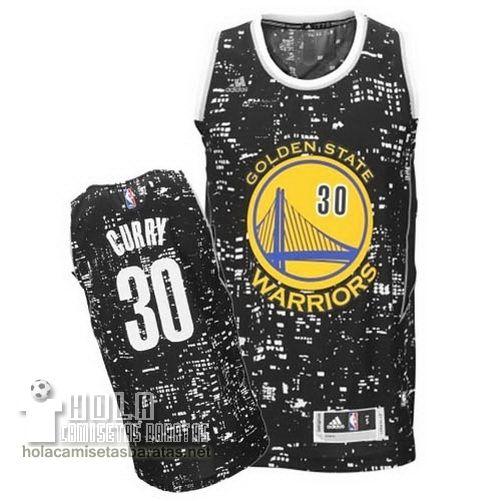 7165f8f7d6386 Camisetas Nba Baratas Ciudad Luces Swingman Curry  30 Negro Golden State  Warriors €23.9