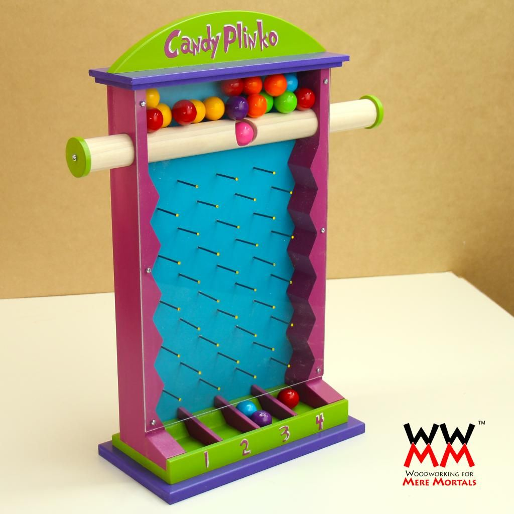Make A Candy Plinko Game Woodworking For Mere Mortals
