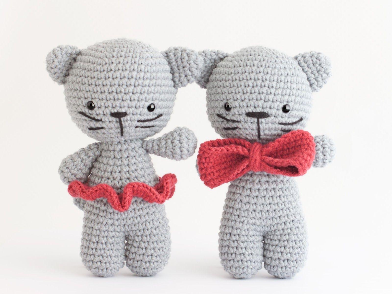 Amigurumi gatitos (enlace a patron gratis) | toys crocheted ...