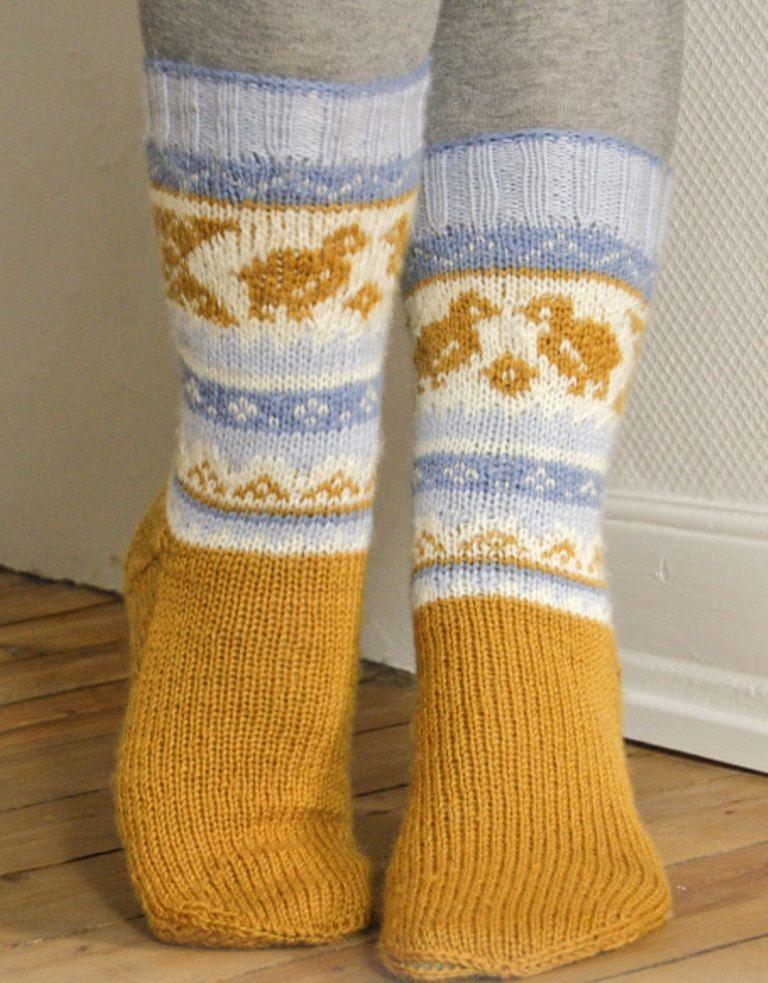knit socks wool socks knitted socks Scandinavian pattern Norwegian ...