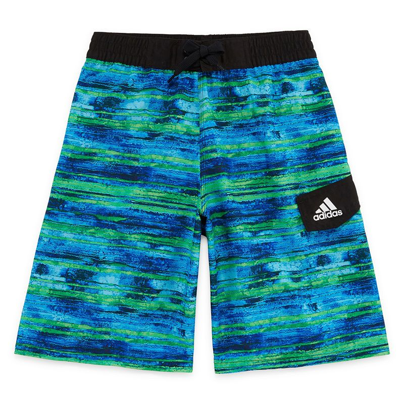 368487190c Adidas Water Stripe Swim Trunks-Boys 8-20 | Products | Pinterest ...