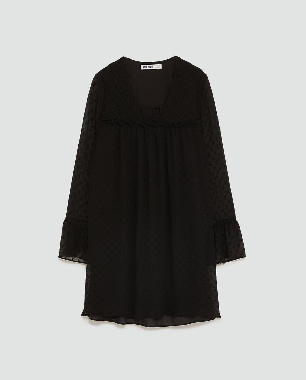 Zara Dan 8 Tul Elbise Resmi Fashion Women Bell Sleeve Top