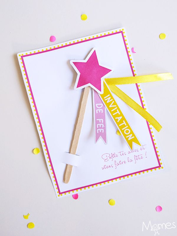 Invitation Anniversaire Fee Baguette Magique Invitation