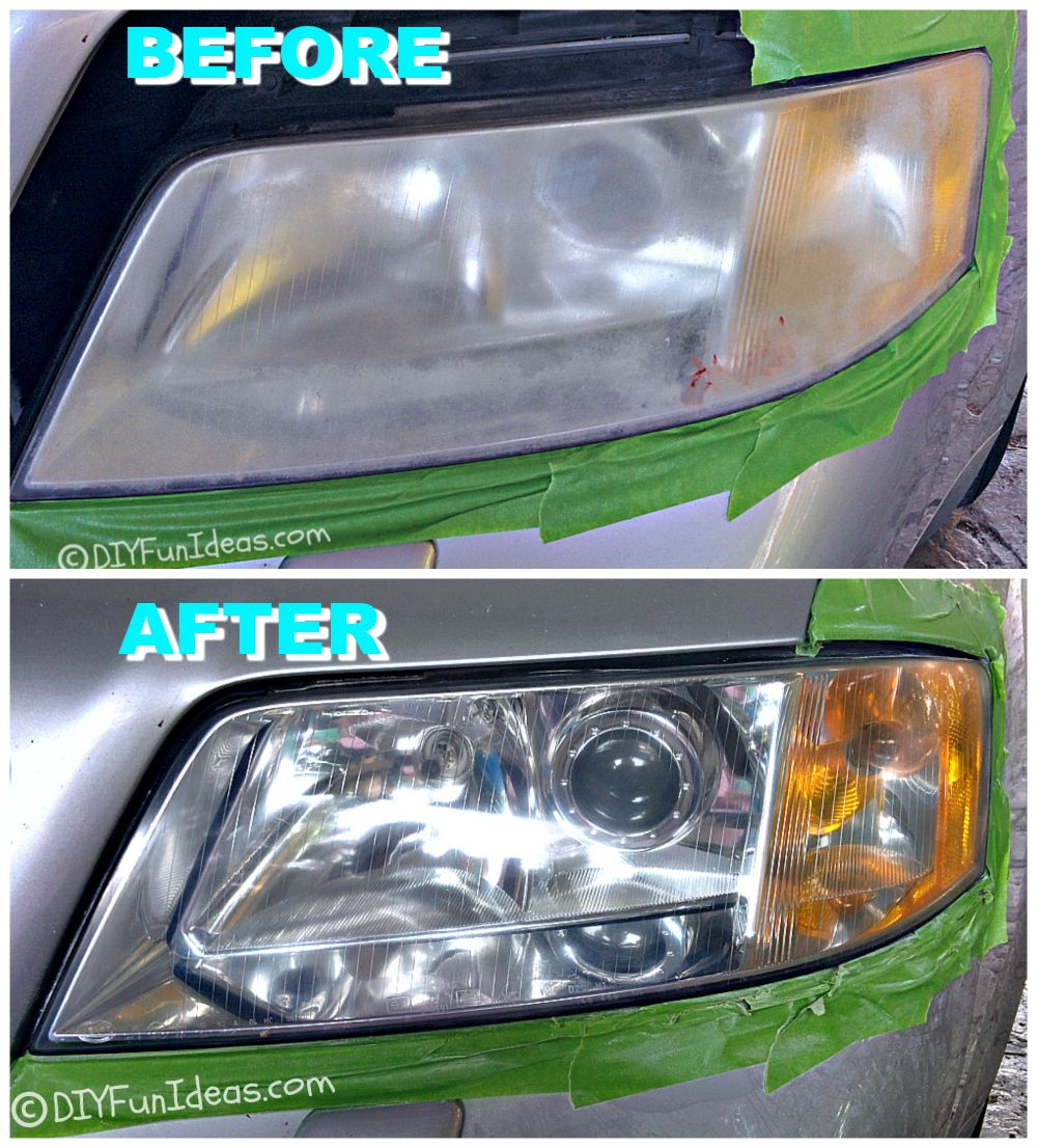 RESTORE CLOUDY HEADLIGHTS TO NEW FOR UNDER 15