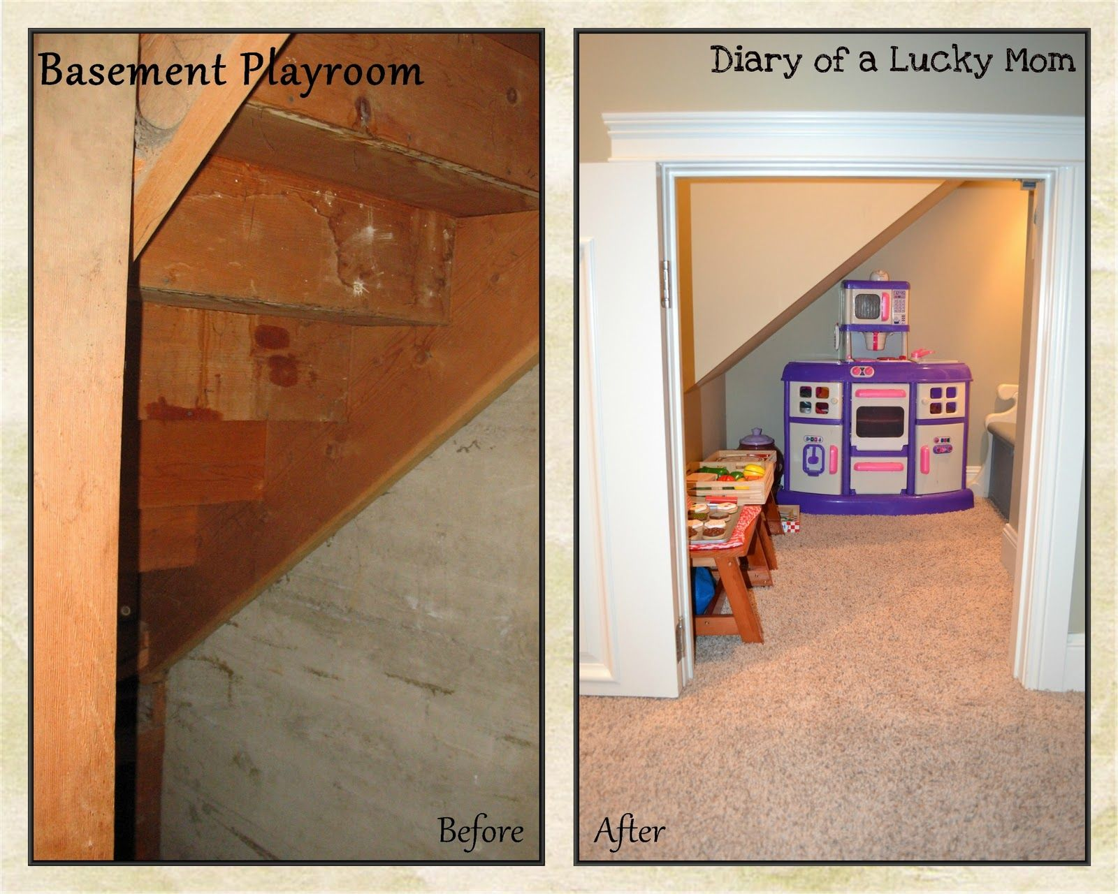 Lighting Basement Washroom Stairs: Space Under Stairs: I'd Make It A Reading Nook