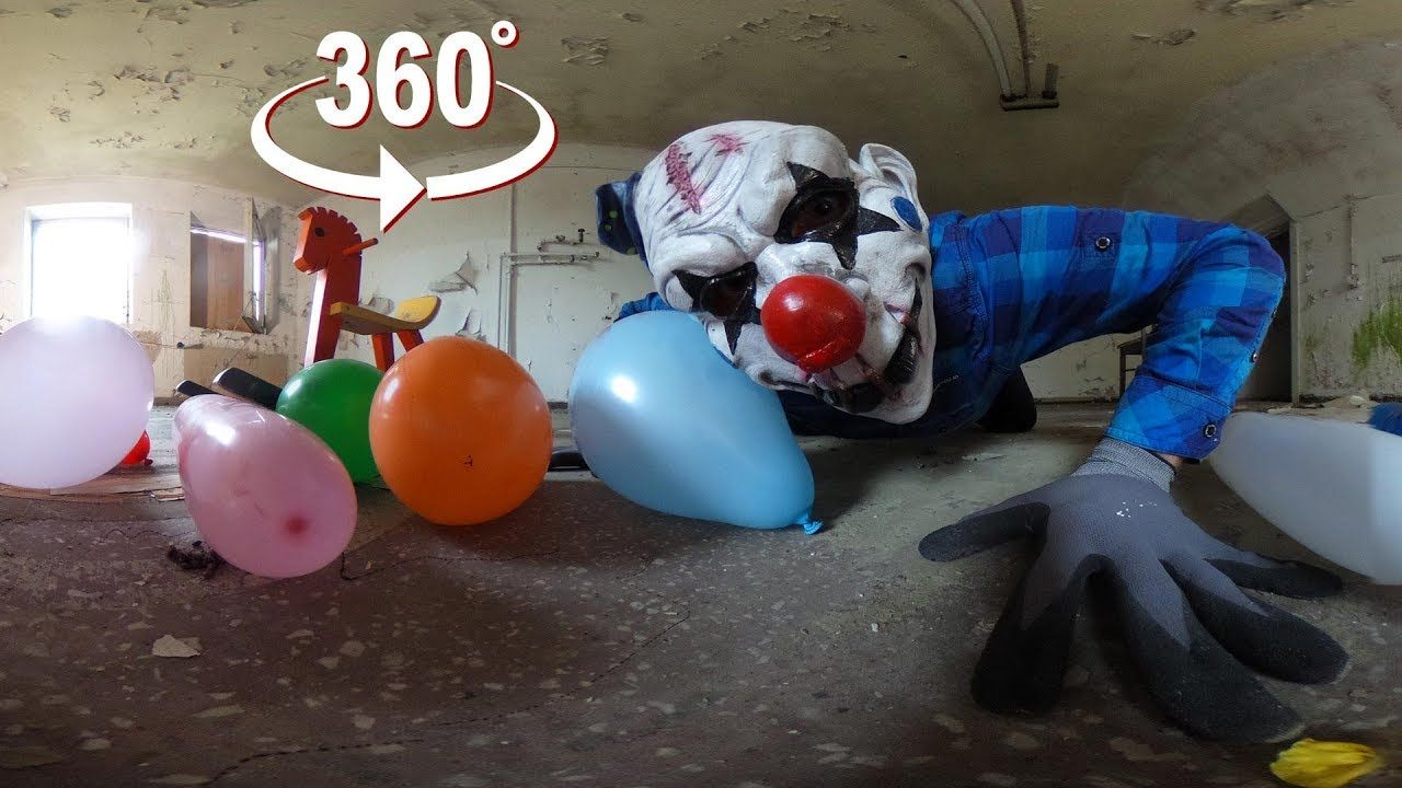 Creepy Halloween Horror Clown Vr 360 Halloween Horror Creepy Halloween Creepy Clown