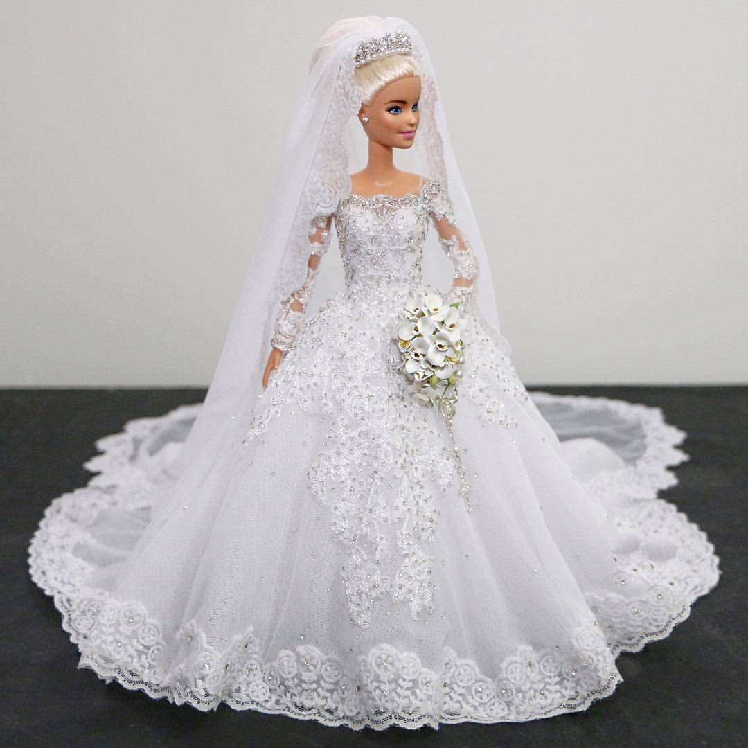 Pin by Janice Davis on Barbie in 17  Barbie wedding dress