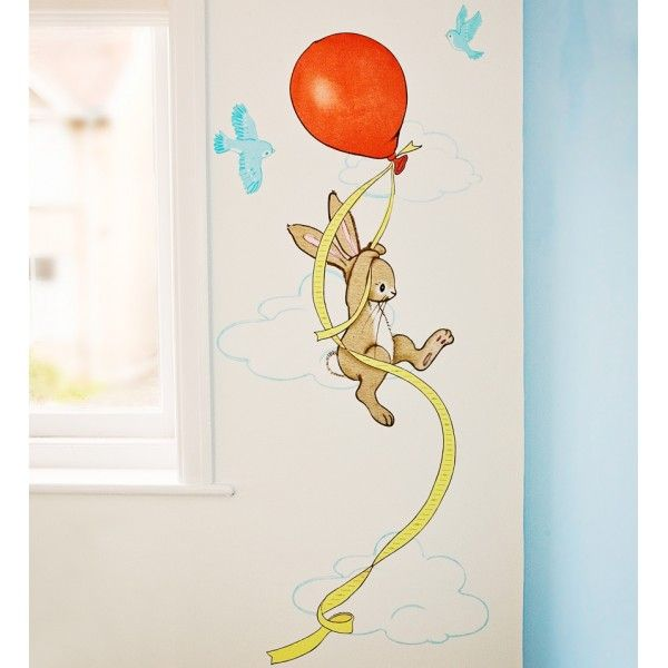 Red Balloon Height Chart Wall Stickers
