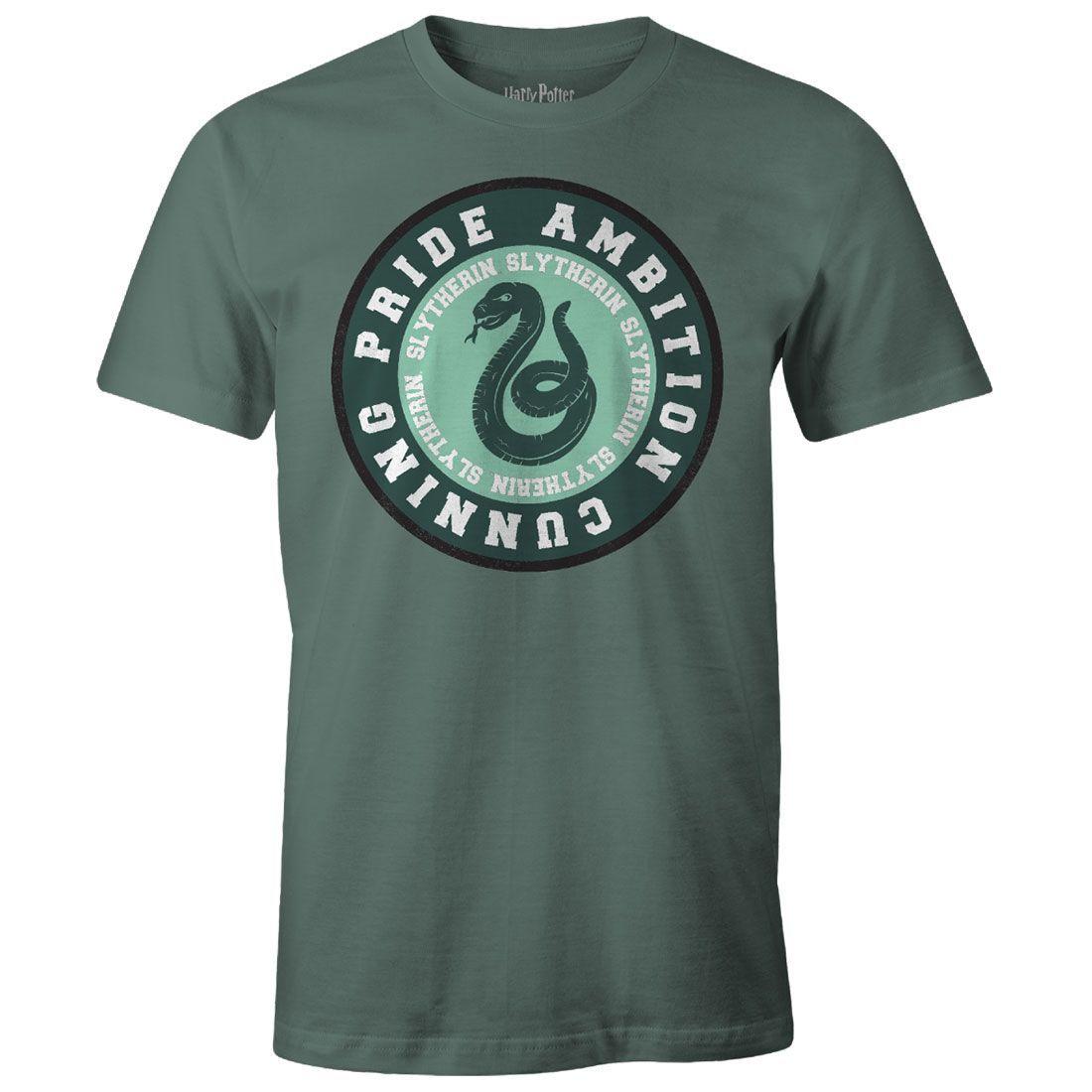 Licence Officielle Femmes Harry Potter Serpentard Logo T-Shirt Ajusté
