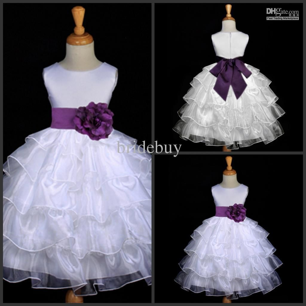 Wholesale Free-shipping 2013 Hot A-line Handmade Flower Cute Tulle Flower girl Dress Flowergirl HS1, Free shipping, $54.79-60.5/Piece | DHgate