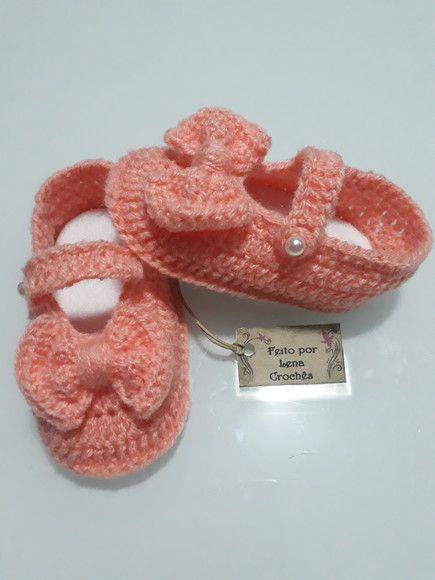 b9eef5f77e Compre Sapatilha Infantil em Crochê no Elo7 por R  35