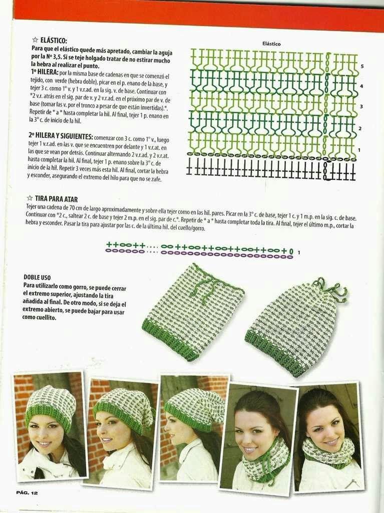Instrucciones para gorro | gorros invierno, Verano crochet | gorros ...
