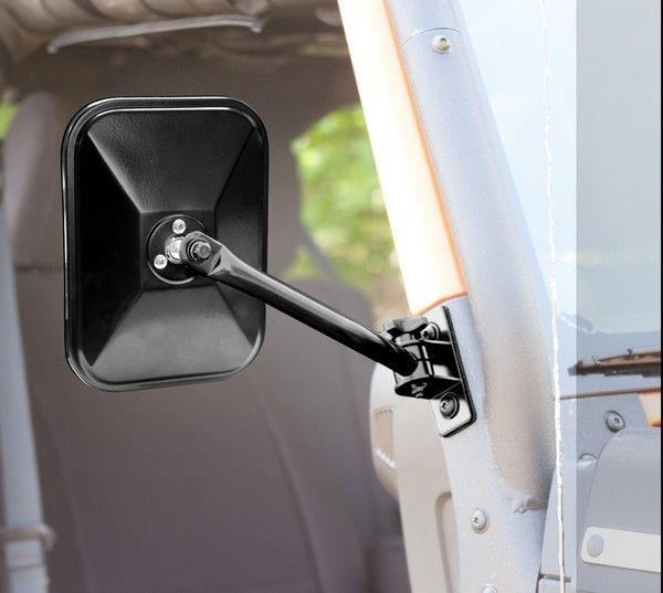 Quick Release Side Mirror Black Rectangular 97 17 Jeep Wrangler With Images Mirror Kit Jeep Wrangler Jeep Wrangler Accessories