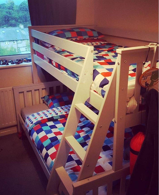 fb0f7cb6495 Instagram   rhiana williams - Oxford Triple Bunk Bed in White - Small Double  OXF013A