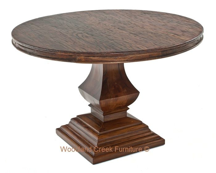 Round Tuscan Dining Table Old World Refined Rustic