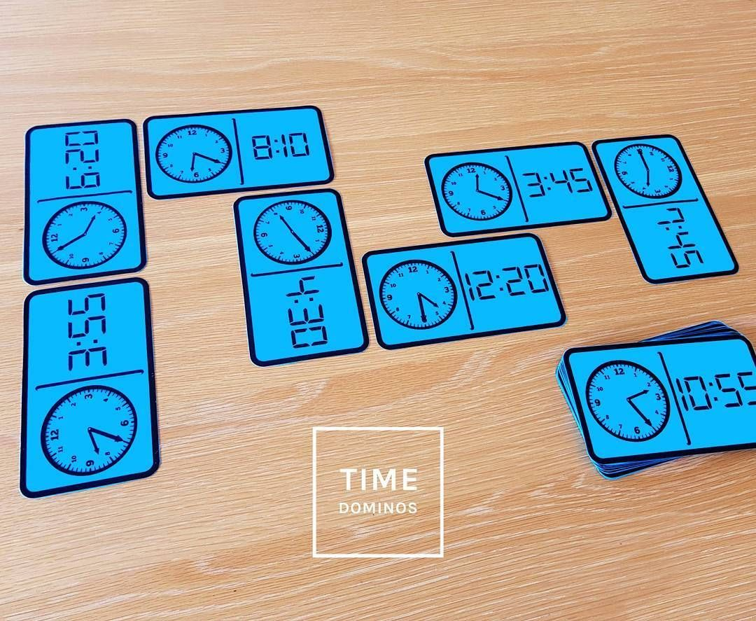 Time Dominos - Math Measurement Activity For Telling the Time to 5 ...