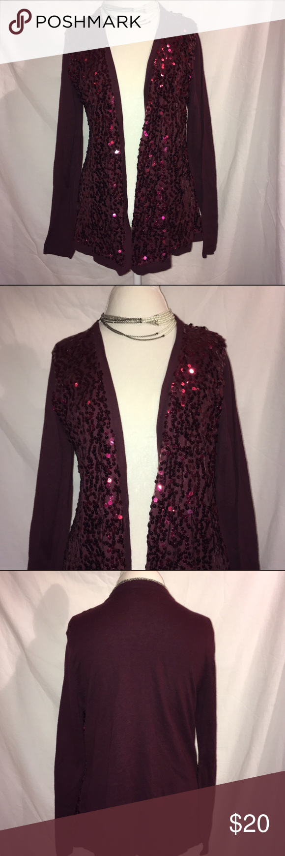 Sequin Cardigan | Sweater cardigan, Buttons and Sequins