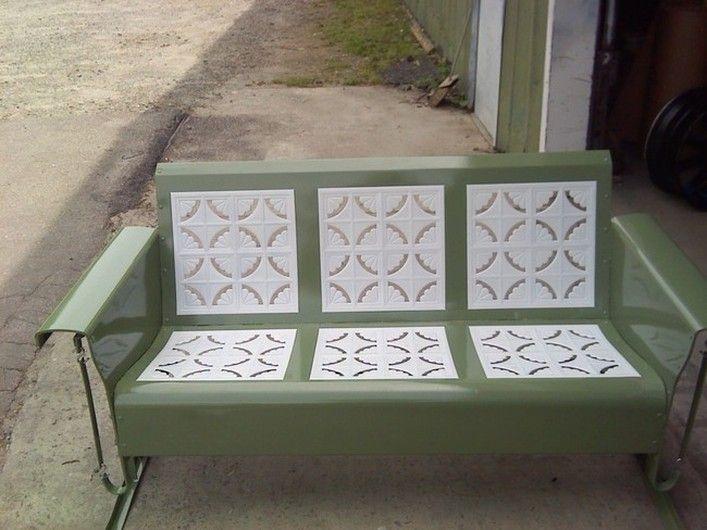 Old Metal Porch Gliders,Vintage Outdoor Patio Cheap Metal Porch Gliders, Vintage Metal Lawn Chair,Metal Lawn Chair,Retro Patio Furniture And More.