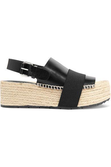 BalenciagaEspadrilles leather stretch strap bast wWe2FH