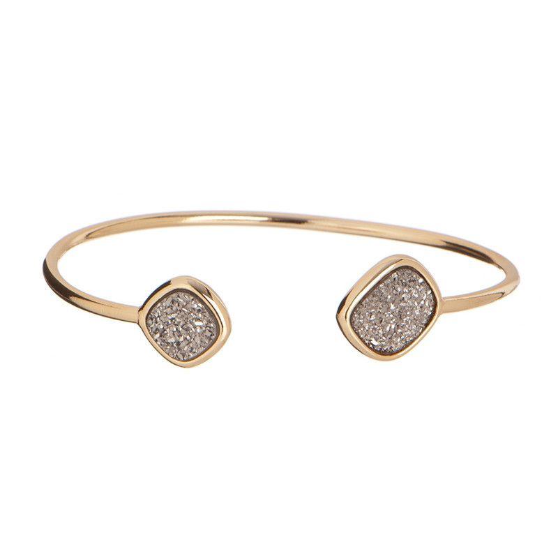 Marcia Moran Open Titanium Druzy Bracelet! #uptownstrut
