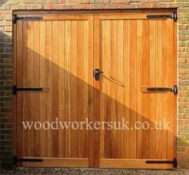 Wooden Garage Doors Hardwood Made To Measure Gate Expectations Wooden Garage Doors Wooden Garage Garage Door Makeover