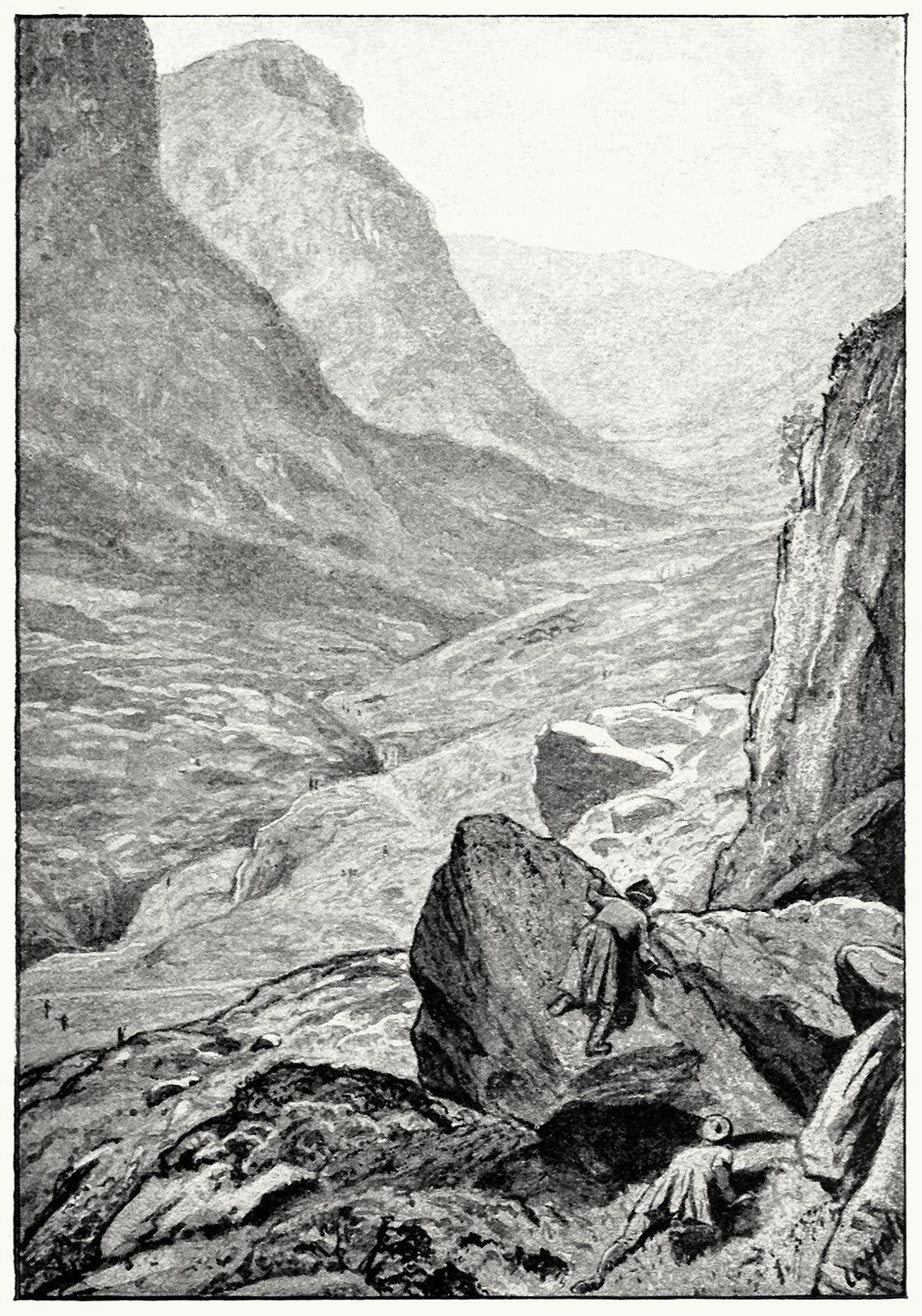 Ilustración de William Brassey Hole para Kidnapped