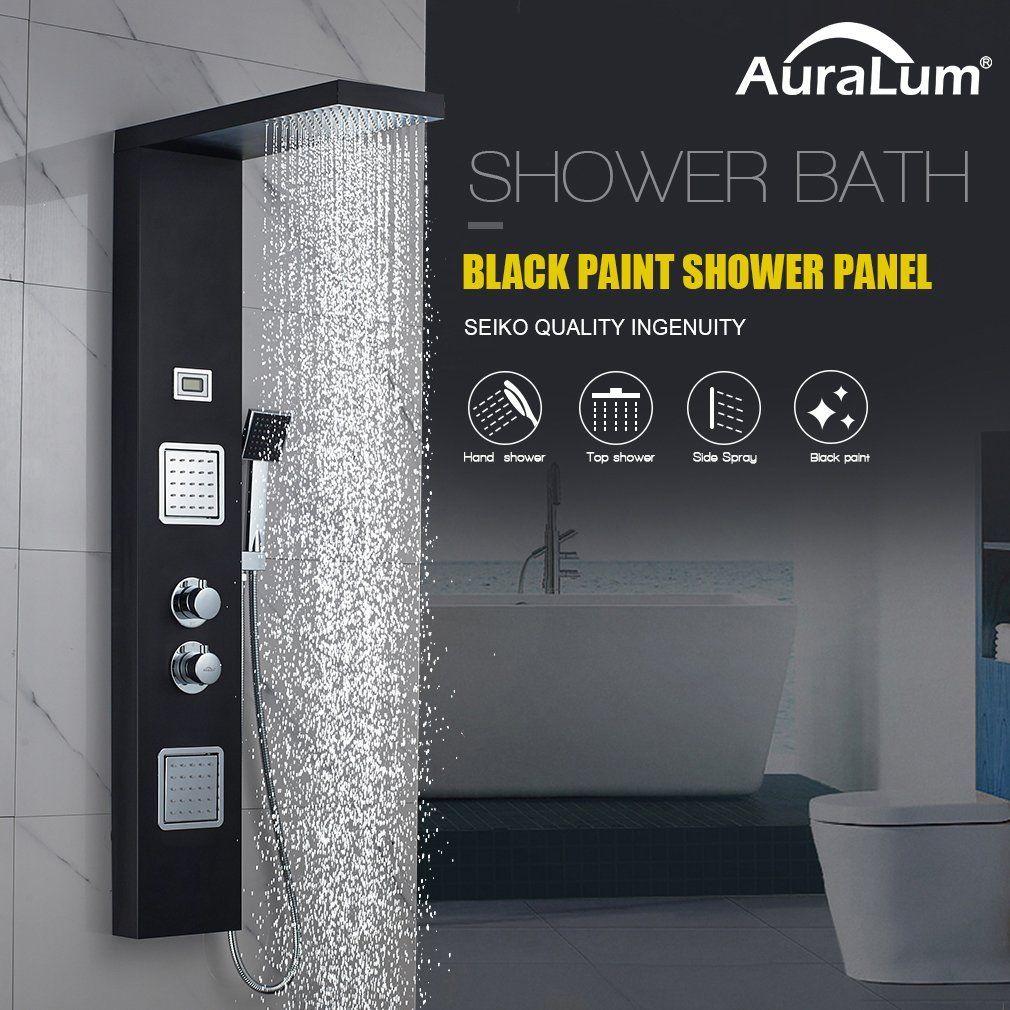 AuraLum Funktional Thermostat Schwarz Edelstahl