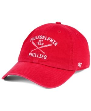 d2a1f3ce244  47 Brand Philadelphia Phillies Axis Clean Up Cap - Red Adjustable