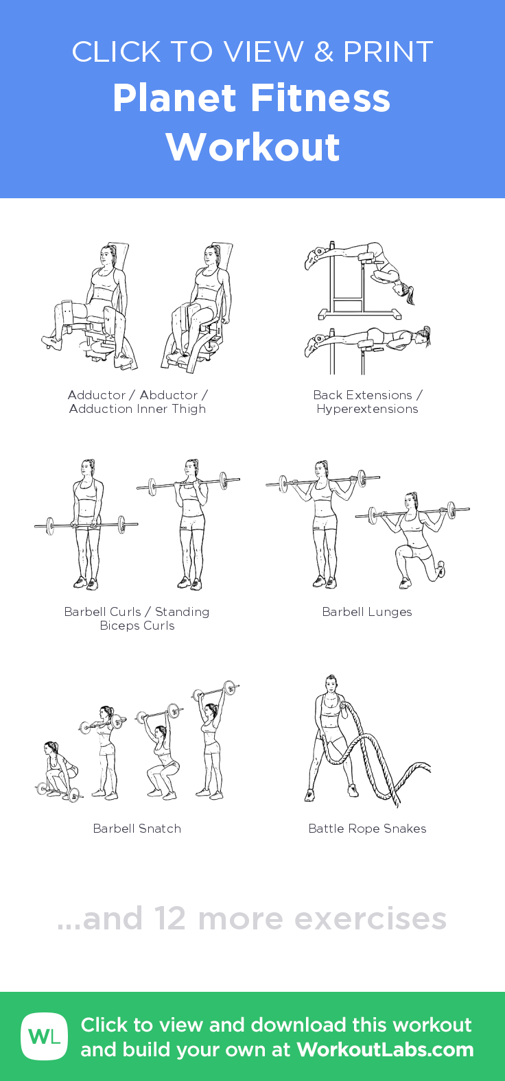 Planet Fitness Workout Click To View And Print This Illustrated Exercise Plan Created With Wo Planet Fitness Workout Planet Fitness Workout Plan Diy Workout