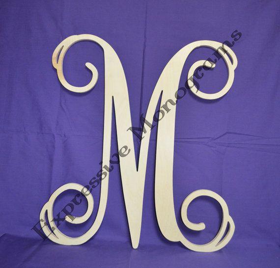 24 inch Single Monogram Wooden Letter, Custom wood monogram on Etsy, $21.00