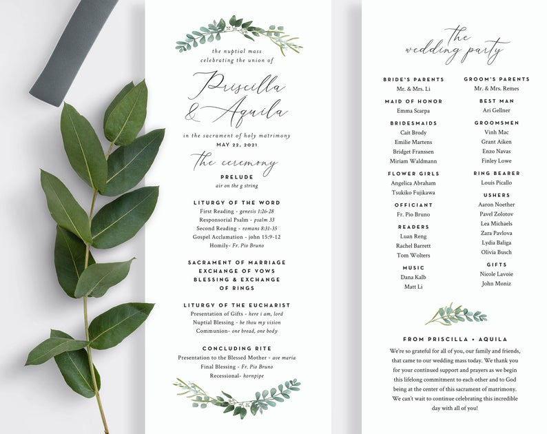 Our Love Story Wedding Program Printable By Sweetbeecreates 40 00 Love Story Wedding Creative Wedding Programs Wedding Programs