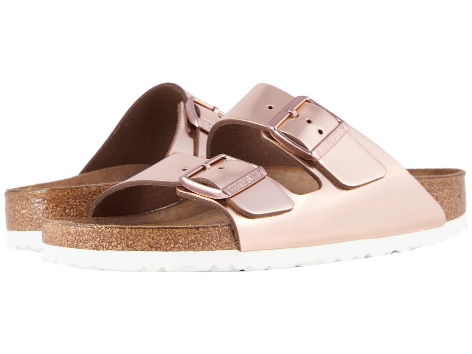 e91e0e349dbd Birkenstock Arizona Soft Footbed Women s Dress Sandals Copper Leather