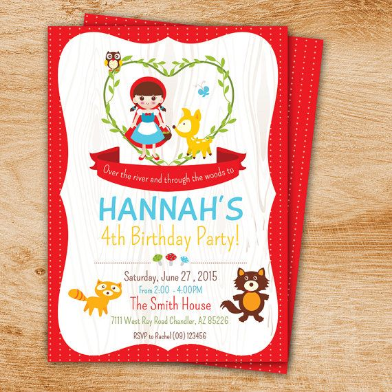 Little Red Riding Hood Birthday Party printable by minprintable