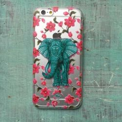 Carcasa Elefante y flores/ Myto