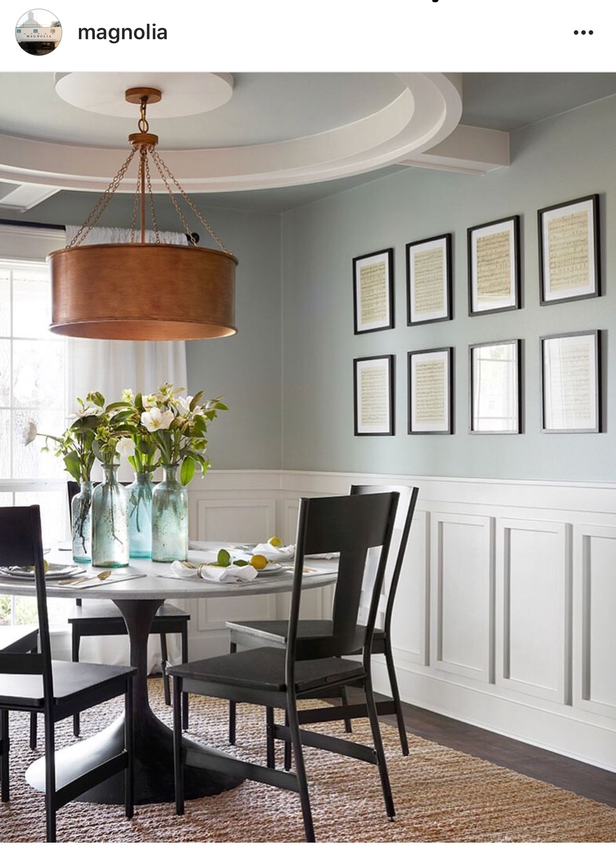 Americana egg eggshell magnolia paint dining room