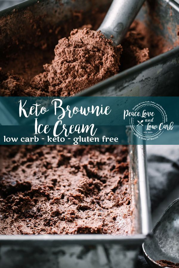 Keto Brownie Ice Cream #ketoicecream