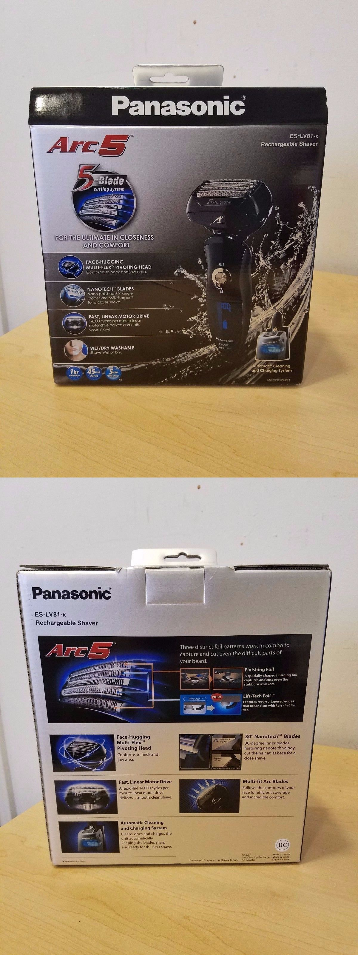 Mens Shavers New Panasonic Es Lv81 K Arc5 Cordless Rechargeable Men Rw30 Electric Shaver With Flexible Pivoting Head W