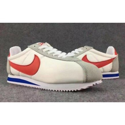 huge selection of bed71 35cad Nike Classic Cortez Running Shoes Womens Mens White Red Blue Nylon