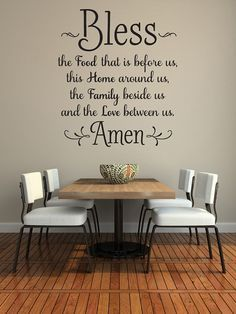 Bless The Food Before Us Wall Decal, Kitchen Wall Art, Dining Room Wall  Words